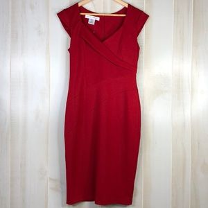 Maggy London Cocktail Red Dress NWT Size 10